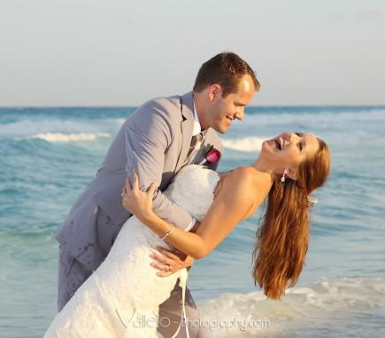 cancun wedding photos beach