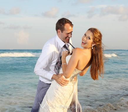 cancun wedding photoshoot beach