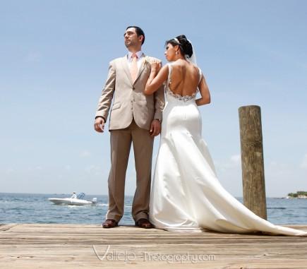 cancun wedding bride groom photo