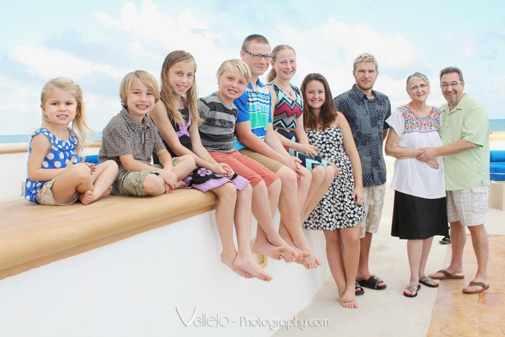 Cancun family portrait