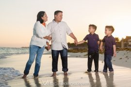 familia-playa-cancun